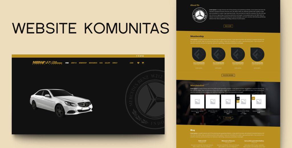 13. Demo Website - Website Komunitas