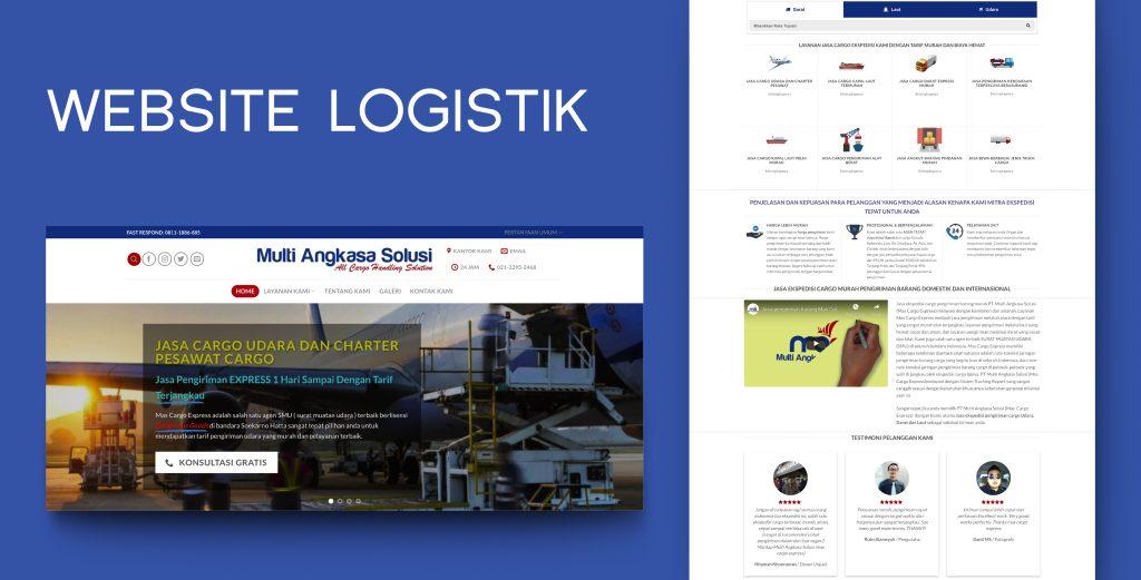 8. Demo Website - Website Logistik